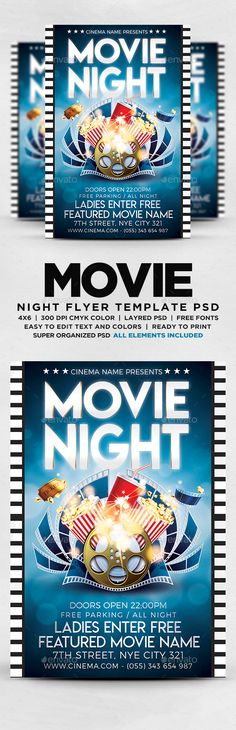 Lost in Space - PSD Flyer Template Flyer template and Psd flyer - movie night flyer template