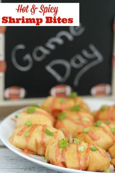Having friends over for the big game? You're going to need some party food and these Hot & Spicy Shrimp Bites will be a hit! #KingOfFlavor #ad