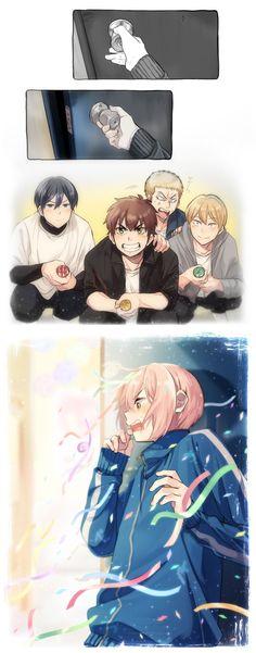 Diamond no Ace:  Kominato Haruichi, Sawamura Eijun, Furuya Satoru, Toujou Hideaki, Kanemaru Shinji