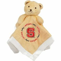 North Carolina State Wolfpack Infant Bear Security Blanket