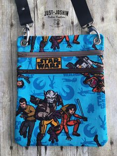 Available on @etsy Star Wars Rebels Geeky Cross-body Bag Zip and Go Hipster Fandom Purse - RTS Handmade Cute Custom Bag by JustJoshinCreations #etsyfinds #etsy #handmade