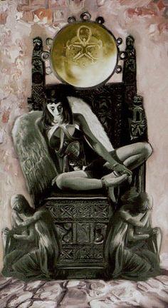 Queen of Pentacles - Dark Angels Tarot Le Tarot, Fortune Telling, Tarot Readers, Pentacle, Oracle Cards, Tom Cruise, Tarot Decks, Tarot Cards, Demons