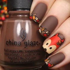 Reinforce Your Nails With Fall Nail Art Barbaramo .- Reinforce your nails with Fall Nail Art - Simple Nail Art Designs, Fall Nail Designs, Easy Nail Art, Nails Design Autumn, Fall Nail Art Autumn, Nail Art For Fall, Nails For Autumn, Acrylic Nails Autumn, Pretty Designs