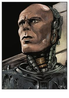 Robocop  colour art print by Mygrimmbrother on Etsy, £7.50