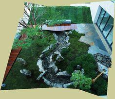Tiger Glen  Garden, designed by Marc Peter Keane for the Johnson Museum of Art, Ithaca, New York