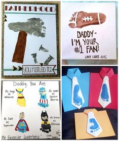 fathers-day-footprint-crafts-gifts-from-kids kids fathers day, fathers day crafts for kids easy, gift ideas for your dad Diy Father's Day Crafts, Diy Father's Day Gifts Easy, Father's Day Diy, Baby Crafts, Infant Crafts, Toddler Crafts, Kid Crafts, Family Crafts, Fathers Day Art