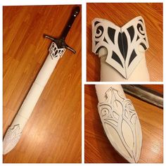 Started construction on the scabbard for my sword. All custom patterns and…