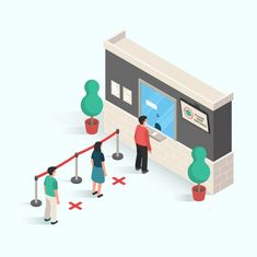 People Doing Distancing In Public Area To Prevent The Infection Of Virus And Desease In Isometric Design Happy Birthday Illustration, Isometric Design, Best Doctors, Flat Design, Graphic Design Inspiration, Best Resolution, Clinic, Make It Yourself, Technology