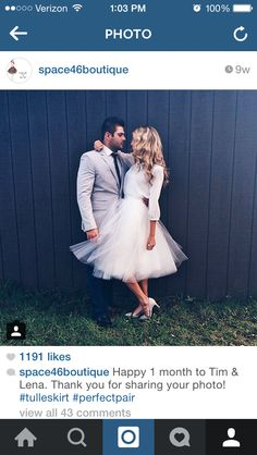 I want to wear a tea length tulle skirt in my engagement pictures!