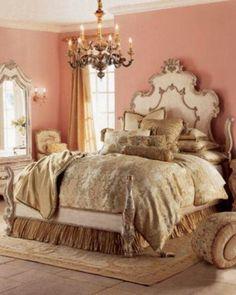 Beautiful Bedrooms For Dreamy Design Inspiration: Beautiful Romantic Bedroom Furniture Peach Bedroom, Pink Bedrooms, Dream Bedroom, Home Bedroom, Bedroom Furniture, Master Bedroom, Bedroom Ideas, Bedroom Colors, Bedroom Designs