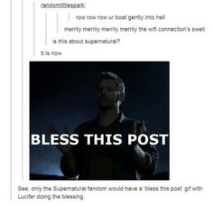 Couldn't sleep, here's more Supernatural. - Imgur