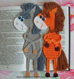 9 bookmarks set Amigurumi Crochet Patterns - 5 Pdf files by Zabelina