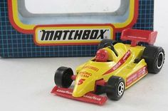 Matchbox/Lesney MB-6; Formula 1 (F1) Racer; Yellow/Red, RN5; Excellent Boxed - http://www.matchbox-lesney.com/46047