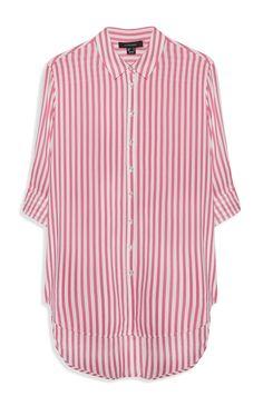 Primark - Roze gestreepte blouse