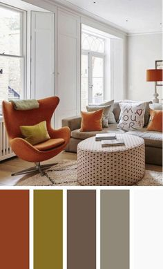 The living room color schemes to give the impression of more colorful living. Find pretty living room color scheme ideas that speak your personality. Good Living Room Colors, Living Room Color Schemes, Beautiful Living Rooms, Living Room Paint, Living Room Designs, Living Room Decor, Design Loft, Design Apartment, Room Paint Colors