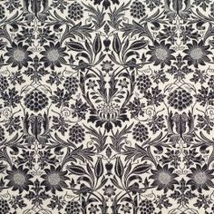 Take a trip back in time with this Williamsburg insprired black floral stretch cotton poplin. Of a lighter weight, this combed stretch cotton poplin, with its 60s thread count, is suitable for Spring/Summer dresses, skirts, blouses, children's wear, and decorative linings. With the addition of spandex, this cotton poplin has just the right amount of give in the weft for form fitting applications. For those who aren't familiar with the term 60s, it refers to the thread count of the fabric…