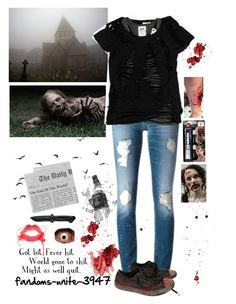 DIY Zombie (yeah i know past Halloween but im still gonna post this because I couldn't on Halloween) by fandoms-unite-3947 on Polyvore featuring Topshop and INC International Concepts