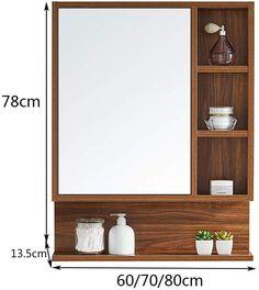Bathroom Mirror With Shelf, Small Bathroom With Shower, Tiny House Bathroom, Home Office Decor, Home Decor Kitchen, Bed Tray Diy, Washbasin Design, Washroom Design, Cupboard Design