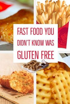 Food Menu Items You Didn't Know Were Gluten Free Fast Food You Didn't Know Was GLUTEN FREE. Learn how to eat gluten free at fast food restaurants.Fast Food You Didn't Know Was GLUTEN FREE. Learn how to eat gluten free at fast food restaurants. Gluten Free Fast Food, Gluten Free List, Gluten Free Menu, Gluten Free Recipes For Dinner, Gluten Free Snacks, Foods With Gluten, Dairy Free Recipes, Gluten Free Chips, What Foods Have Gluten