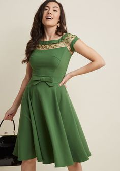 With Only a Wink A-Line Dress in Peridot