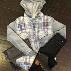 Make a casual outfit chic with a pair of booties and a leather clutch! #OOTD #CasualChic #Accessorize #BoutiqueLife #ShopLocal #DetailsBoutique