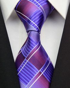 CON49 Pink Gray Purple Blue Red Striped Man's New Fashion Silk Polyester Woven Tie Causual Business Wedding Party Luxury Necktie-in Apparel ...