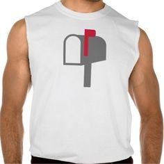 Mail box letter sleeveless shirts Tank Tops