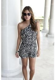 Leopard romper at body central...WANT WANT WANT
