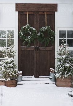 + | Snowy christmas entry way ...