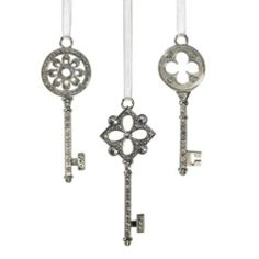 Jewel Key Ornament - Set of 3 from Z Gallerie