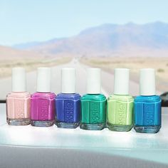 Make your stylish mark and stand out in the crowd with the new essie 2015 neon collection. Hit the road with these bold new colors for spring and summer. Polish up your nails with bright peachy pinks and magentas, electric royal blues, and luscious lime shades for a vibrant look this season.