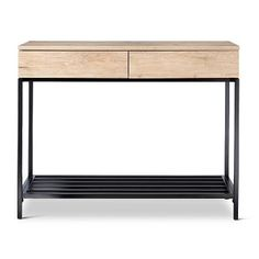 Darley Console Table Vintage Oak - Threshold™ - Like the light wood & metal mix - inspiration for media console design