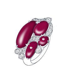 rubies and diamonds www.studiotara.com