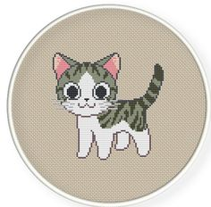 Instant download,free shipping,Cross stitch pattern, PDF,chi's cat ,ZXXC0279