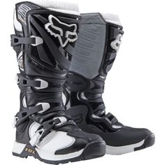 Fox Racing Comp 5 Women's Motocross/Off-Road/Dirt Bike Motorcycle Boots - Black/White / Size 8 Dirt Bike Boots, Dirt Bike Gear, Motocross Gear, Motorcycle Boots, Dirt Biking, Women's Boots, Bmx, Ankle Boots, Womens Harley Davidson Boots
