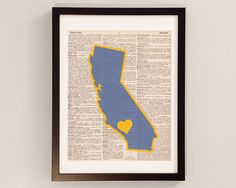 UCLA Bruins Dictionary Art Print  Los Angeles Art by DictionArt on Etsy, $9.00