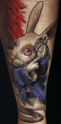 150+ Charming Alice in Wonderland Tattoo Designs cool