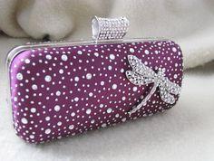 Deep Purple Fabric Wedding Bag Clutch Formal by weddingswithflair