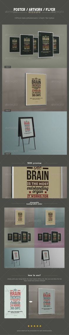 Poster / Artwork / Flyer Mockups - GraphicRiver Item for Sale