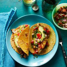 Baked Fish Tacos with Avocado Recipe - EatingWell Healthy Mexican Recipes, Avocado Recipes, Fish Recipes, Seafood Recipes, Whole Food Recipes, Cooking Recipes, Dinner Recipes, Tilapia Recipes, Kitchens