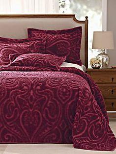 Hawthorne Chenille Bedspread & Sham   Blair