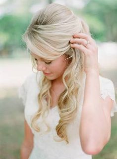 half up half down wedding - Google Search