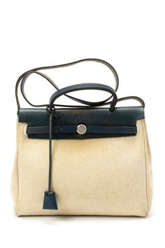 Vintage Hermes Cotton Herbag Handbag on HauteLook