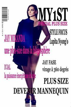 Plus Size Model Silvana on the cover of My1ST le Magazine http://www.curve-models.com//articles/290.html