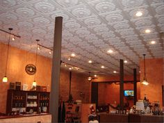 Amazing This New York Restaurant Installed Ceilumeu0027s Medallion Ceiling Tiles In  White For An Ultra Feminine