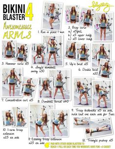 awesomesauce arm workout. can also find the video for this workout on youtube by typing in bikini blaster 4: awesomesauce arms