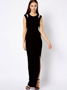 Black With Shoulder Cut-Outs