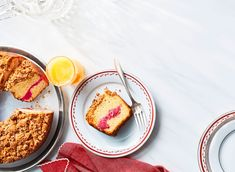 """Bring the bright flavors and colors of the holidays to your morning table with this """"good-to-the-last-crumb"""" coffee cake. Flavored with cranberries, toasted pecans, and a hint of cinnamon, this coffee cake is also a good choice when hosting a brunch, … Best Coffee Cake Recipe, Crumb Coffee Cakes, Christmas Breakfast, Christmas Brunch, Christmas Morning, Christmas 2019, Afternoon Snacks, Holiday Recipes, Christmas Recipes"""
