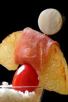 ¡¡Oído cocina!!: Pincho de piña asada con jamón