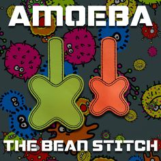 Amoeba - Includes Two(2) Sizes!  #thebeanstitch #beanstitchers #TBS #ith #inthehoop #machineembroidery #felties #feltie #embroidery #digitaldownload #keyfobs #bagtag #diy #snaptab #snapbean #handmade #vinyl #felt #craft #etsy #shopsmall #embroiderygift #travel #everyday #design #multipurpose #amoeba #science #shape #cell #experiment #lab #cool #keychain